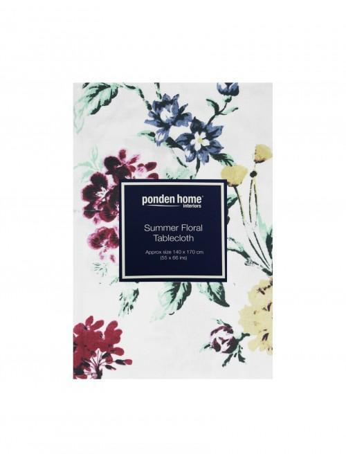 Summer Floral Tablecloth Green