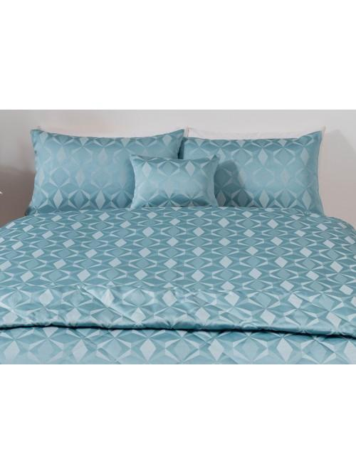 Geo Lurex Jacquard Bedding Collection Duck Egg