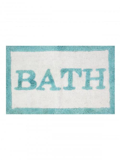 Glitter Words Patterned Bathmat Turquoise