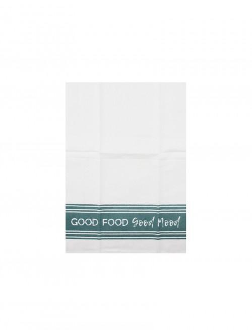 Brights Slogan Tea Towel Turquoise
