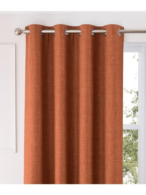 Harlow Thermal Blackout Eyelet Curtains Orange