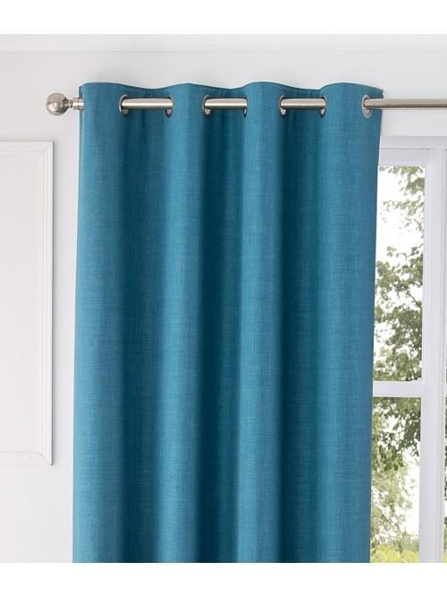 Harlow Thermal Blackout Eyelet Curtains Turquoise
