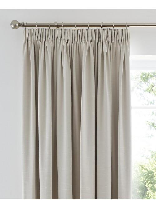 Harmony Blackout Pencil Pleat Curtains Cream