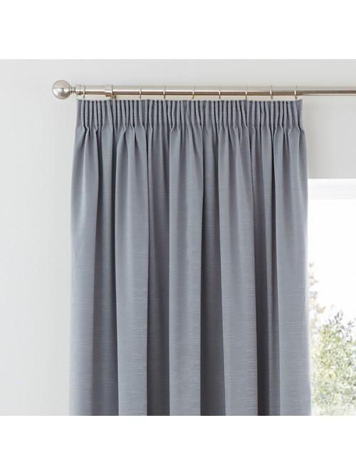 Harmony Blackout Pencil Pleat Curtains Grey