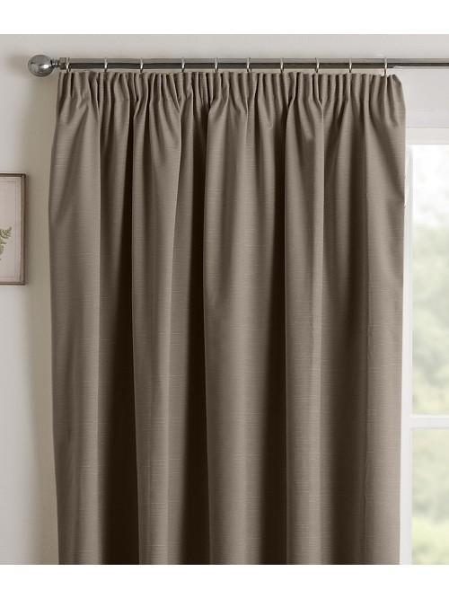 Harmony Blackout Pencil Pleat Curtains Coffee