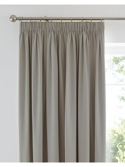 Harmony Blackout Pencil Pleat Curtains Taupe