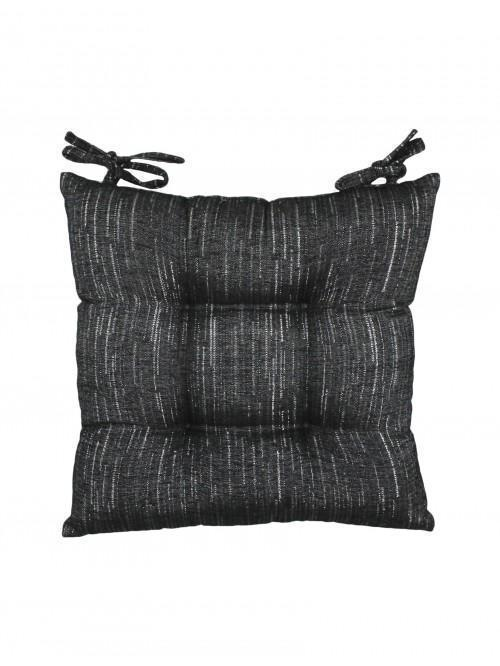 Hotel Luxe Corsica Glitter Effect Seat Pad Black