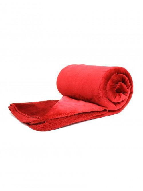 Hotel Large Luxury Throw Red