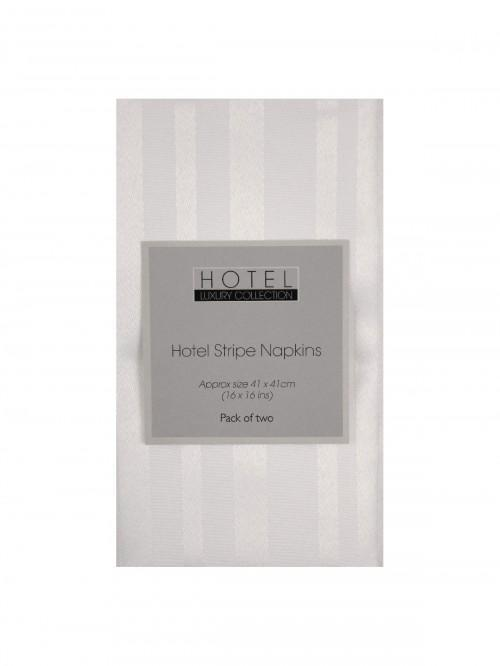 Hotel Collection Satin Stripe Napkins 2 Pack