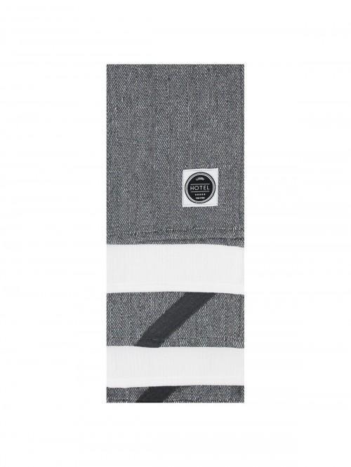 3 Pack Hotel Herringbone Loop Tea Towels Grey