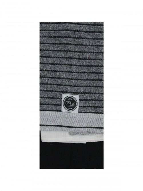 3 Pack Hotel Chambray Tea Towels Grey