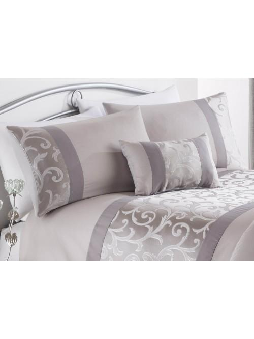 Imperial Panel Jacquard Bedding Collection Grey