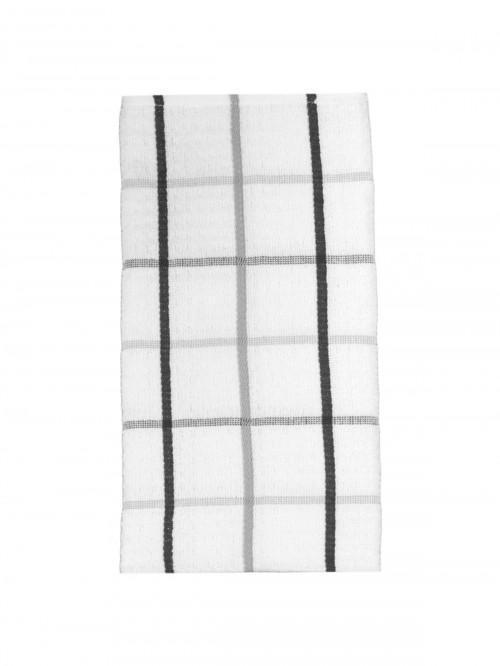Jumbo Supersoft Check Tea Towel Grey