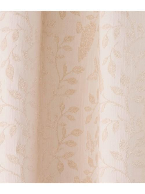 Kelso Jacquard Pencil Pleat Curtains Cream