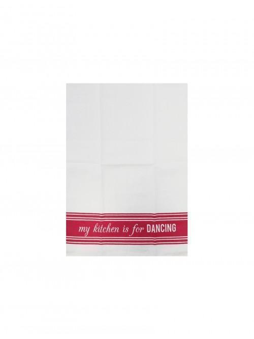 Brights Slogan Tea Towel Pink