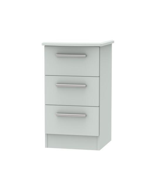 Athena 3 Drawer Bedside Cabinet Matt Grey