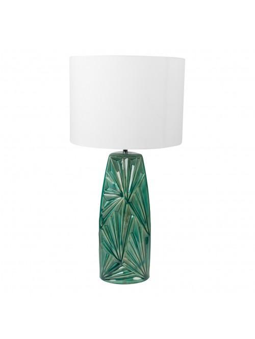 Amazonia Collection Ceramic Table Lamp Green Base