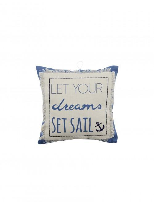 Dreams Set Sail Mini Cushion Multi