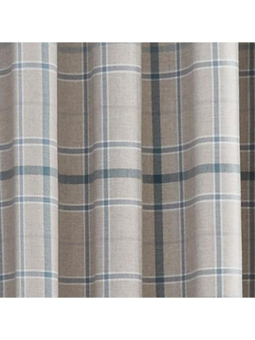 Lewis Check Thermal Blackout Eyelet Curtains Teal