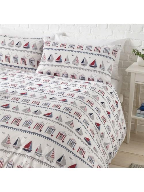 Linear Boathouse Printed Bedding Collection Blue
