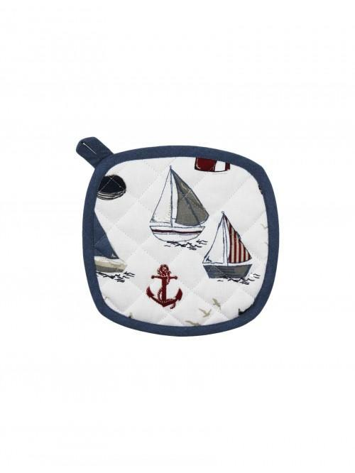 Linear Boathouse Pot Holder Blue