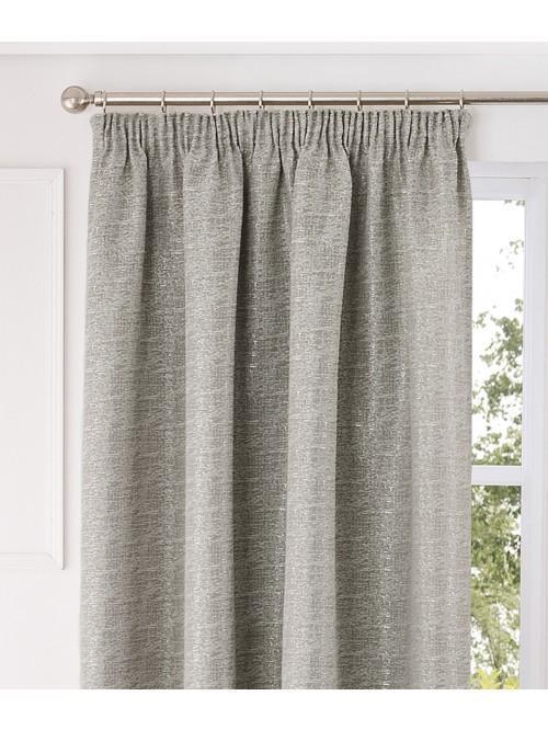 Loft Pencil Pleat Curtains Taupe