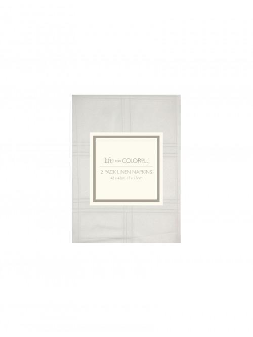 Ponden Home Lustre Check Napkins 2 Pack Cream