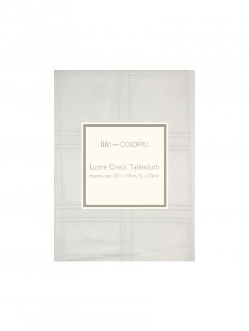 Ponden Home Lustre Check Tablecloth Cream