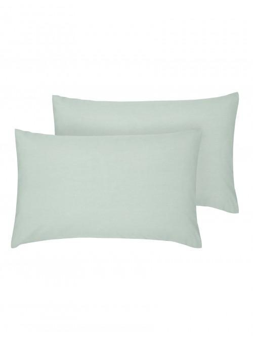 Luxury Percale Housewife Pillowcase Pair Duck Egg