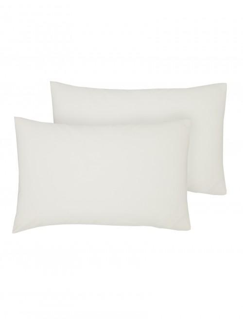 Luxury Percale Housewife Pillowcase Pair Ecru