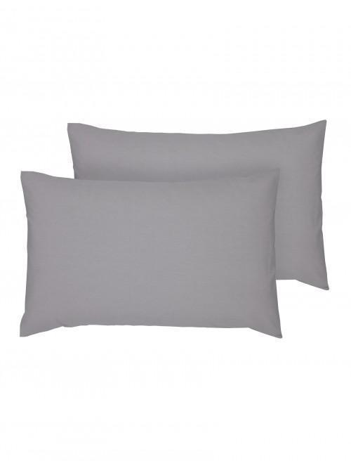 Luxury Percale 200 Thread Count Housewife Pillowcase Pair Grey