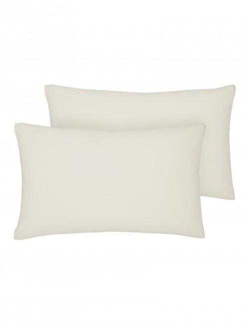 Luxury Percale 200 Thread Count Housewife Pillowcase Pair Oyster