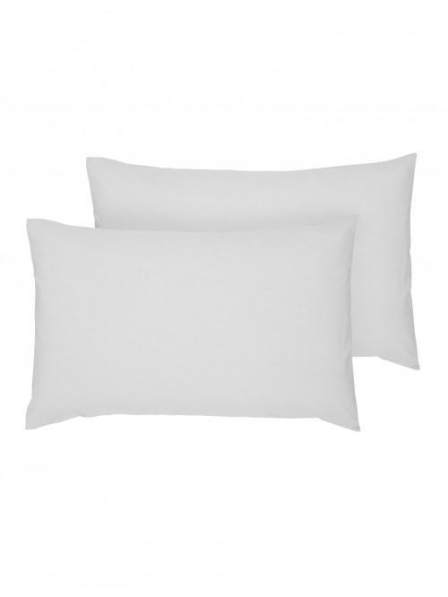 Luxury Percale Housewife Pillowcase Pair Silver
