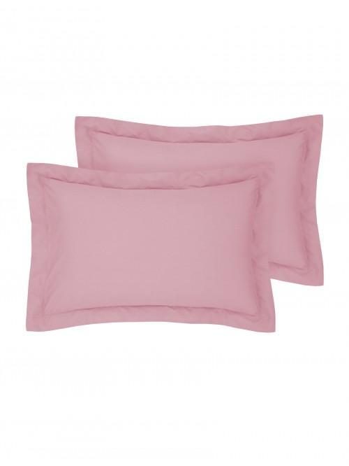 Luxury Percale Oxford Pillowcase Pair Coral