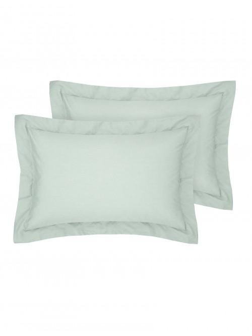 Luxury Percale Oxford Pillowcase Pair Duck Egg