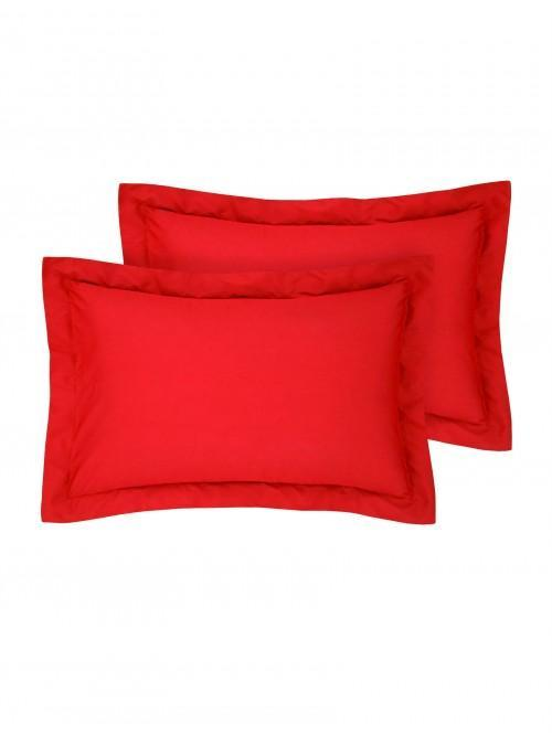 Luxury Percale Oxford Pillowcase Pair Red