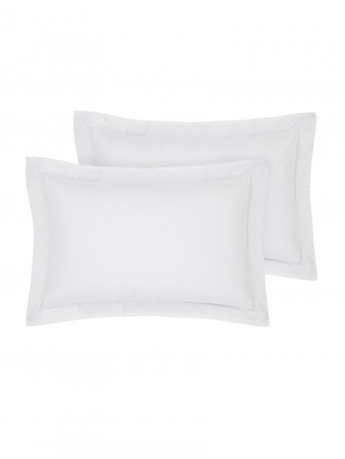 Luxury Percale Oxford Pillowcase Pair White
