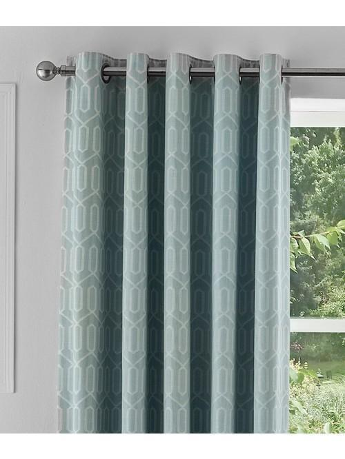 Mason Blackout Eyelet Curtains Duck Egg