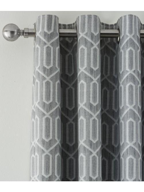 Mason Blackout Eyelet Curtains Grey