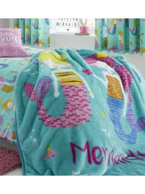 Catherine Lansfield Mermaid Bedding Collection Blue