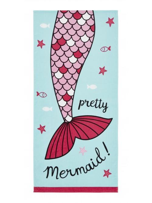 Catherine Lansfield Mermaid Beach Towel Blue