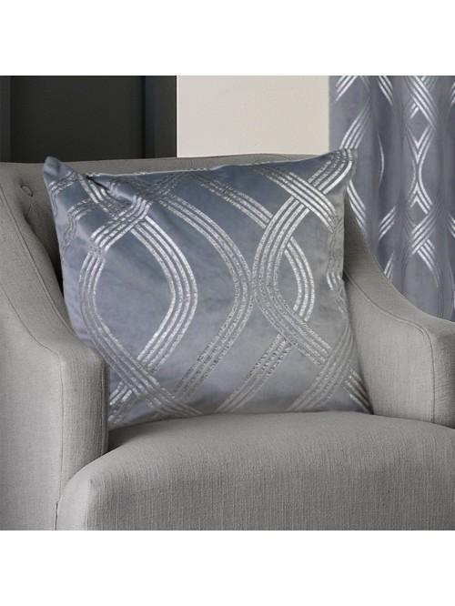 Milano Large Feather Filled Cushion Silver