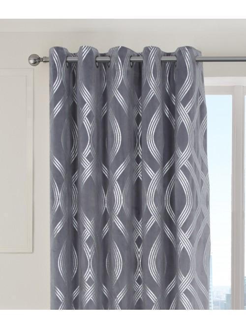 Milano Eyelet Curtains Silver