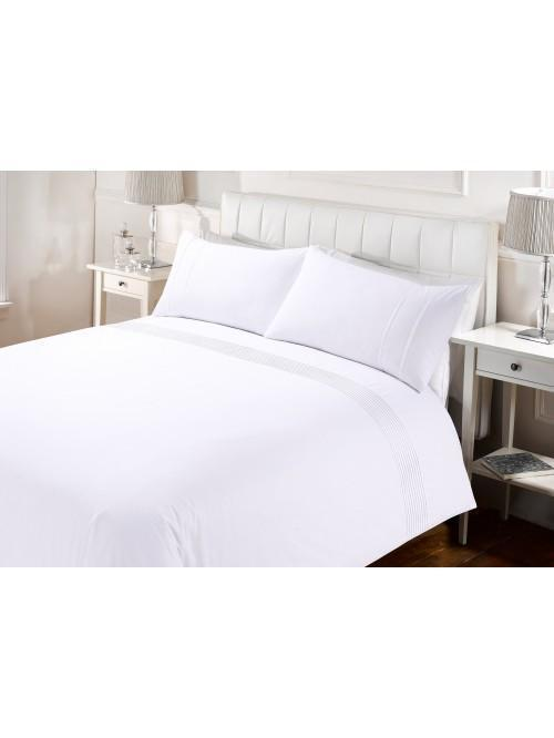 Hotel Collection Mini Pleats Duvet Set White