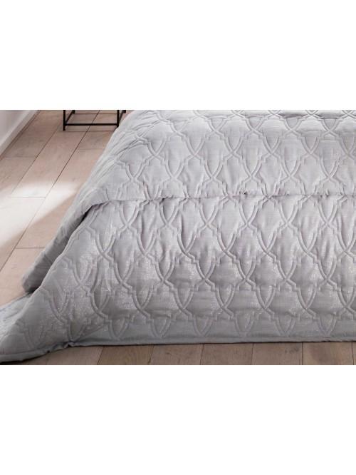 Silver Lurex Fretwork Bedspread