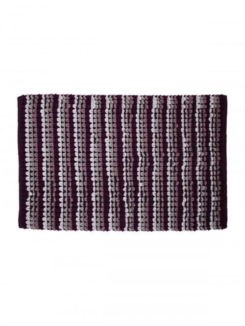 Multi Stripe Bathmat Purple