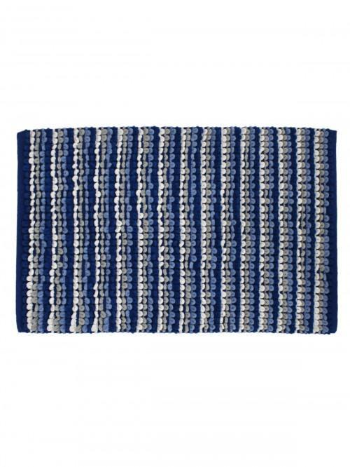 Multistripe Bathmat Cobalt