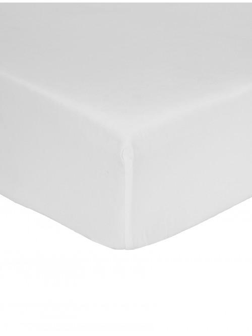 Non Iron Deep Fitted Sheet White