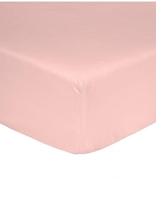 Non Iron Fitted Sheet Pink