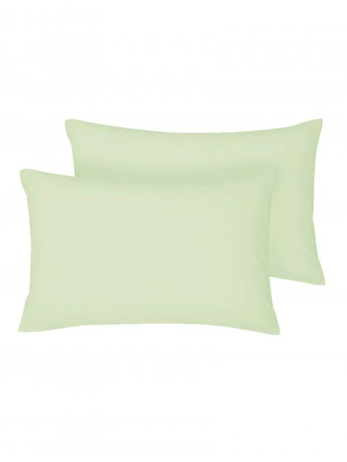 Non Iron Housewife Pillowcase Pair Fern Green